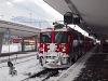 A Rhätische Bahn Ge 4/4<sup>II</sup> 619 <q>100 Jahre Bernina</q> Samedan állomáson