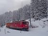 The Rhätische Bahn Ge 6/6<sup>II</sup> 705 seen between Muot and Preda