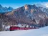 A Rhätische Bahn Ge 4/4<sup>III</sup> 644 Muot és Preda között az Alp Naz közelében