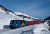 The Rhätische Bahn Ge 4/4<sup>III</sup> 352 seen between Celerina and St. Moritz