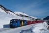 A Rhätische Bahn Ge 4/4 III  352 Celerina és St. Moritz között
