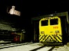 A Rhätische Bahn Xmf 4/4 9919 Poschiavo állomáson