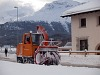 RhB road snow plough at Samedan