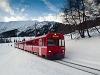 The Rhätische Bahn BDt 1722/Ge 4/4<sup>II</sup> 615 seen between Davos Wolfgang and Davos Laret