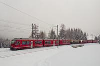 A Rhätische Bahn ABe 4/4 III  3513 Bergün és Preda között