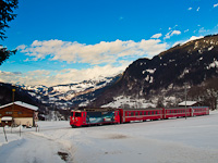 A Rhätische Bahn Ge 4/4<sup>II</sup> 615 Klosters Dorf és Klosters között
