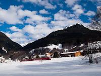 A Rhätische Bahn Ge 4/4<sup>II</sup> 614 Klosters Dorf és Klosters között