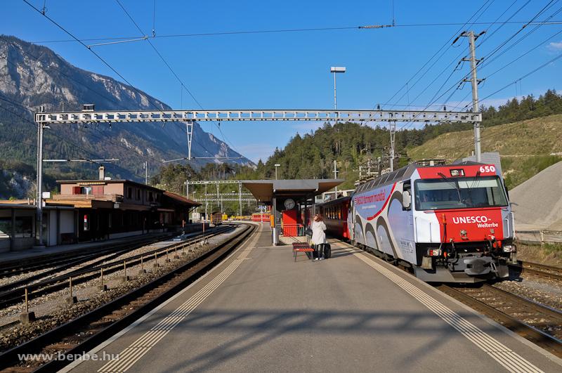 A Ge 4/4 III  650  Unesco-Welterbe  Reichenau-Tamins állomáson fotó