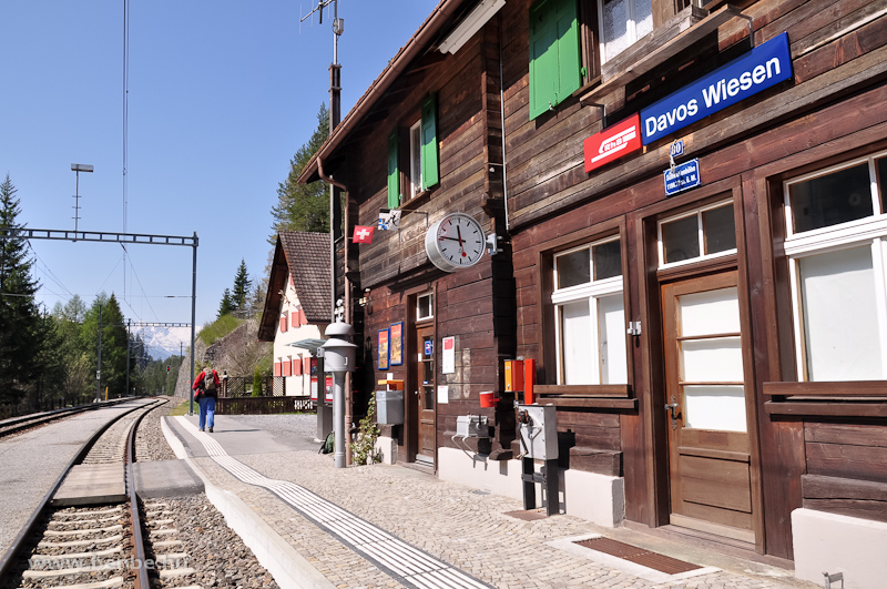 Davos Wiesen állomás fotó