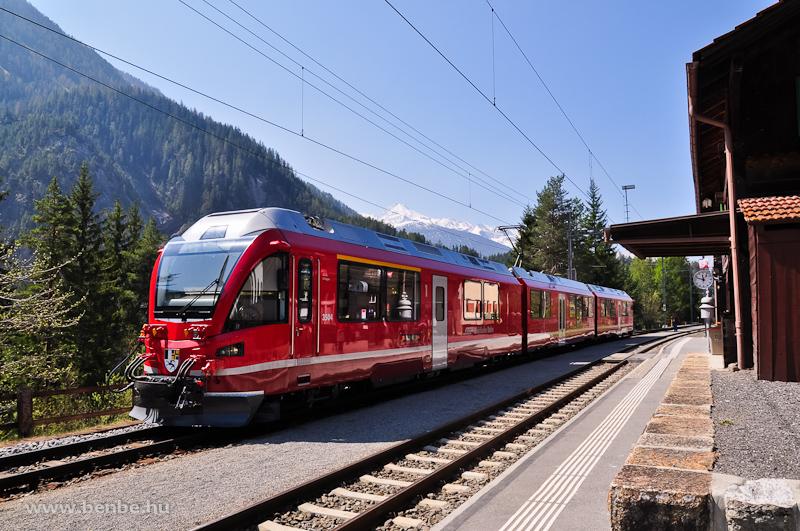 A 3504-es Allegra Davos Wiesen állomáson fotó