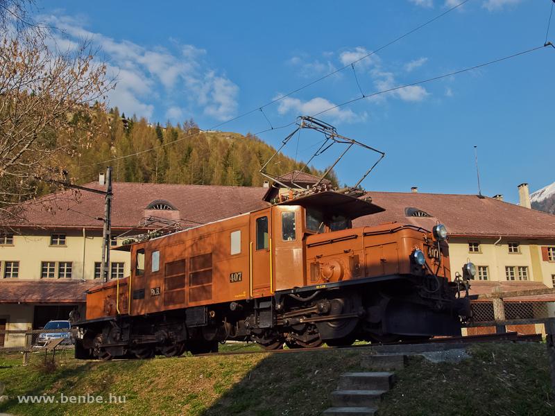 A Ge 6/6 I  407 Bergünben fotó
