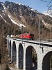 Az RhB Ge 6/6<sup>II</sup> 706 az Albula-III viadukton