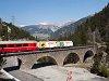REX az Albula-I viadukton Muot és Preda között