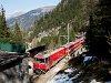 A Ge 4/4 III  651  Glacier on Tour  az Albula-I viadukton
