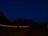RegioExpress a sötétben Bergünnél