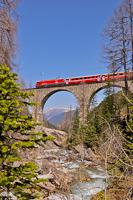 The Ge 4/4<sup>III</sup> 644 on the Albula-II viadukt