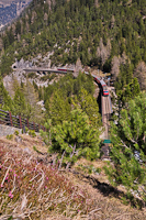 A Ge 4/4<sup>III</sup> 651 <q>Glacier on Tour</q> az Albula-I viadukton