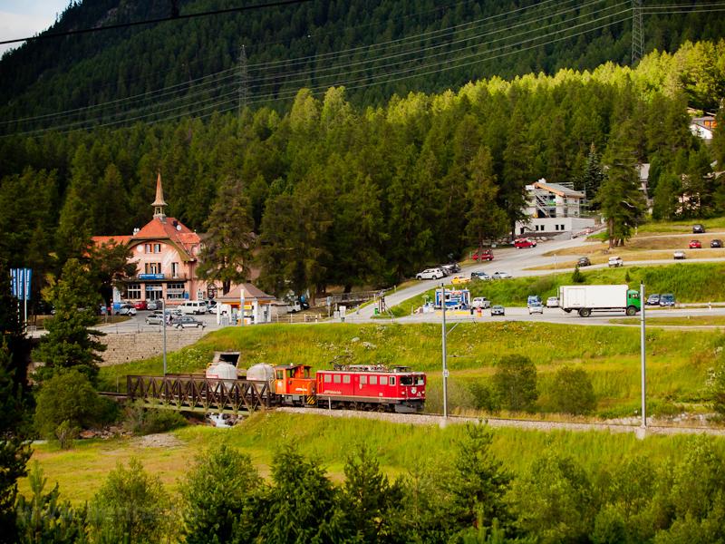 A Ge 6/6 II  702 Punt Muragl és Pontresina között fotó
