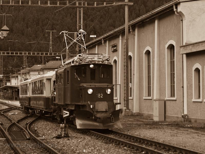 A Ge 4/4 182 Pontresinában fotó