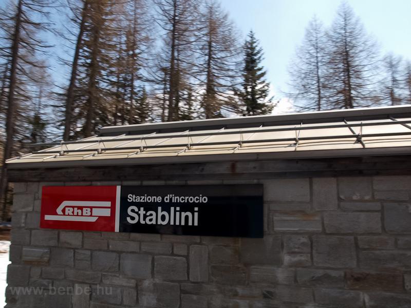 Stablini forgalmi kitérő épülete fotó
