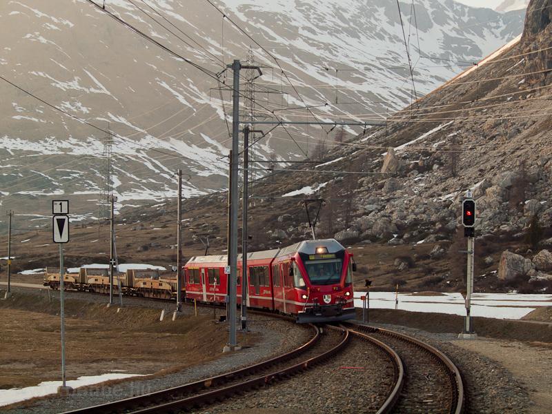 An RhB Allegra is seen at Bernina Lagalb station photo