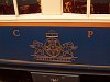 The insignia on the side of an Alpine Classic Pullman Car