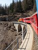 The Bernina rotating snow-plough Xrotet 9219 at the Val Pila-viaduct