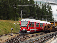 The RhB ABe 8/12 3508 seen at Pontresina