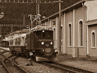 The Ge 4/4 182 seen at Pontresina