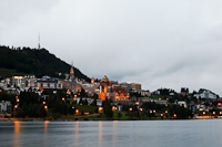 The view of Sankt Moritz by night