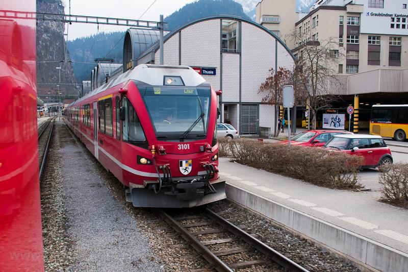 A Rhätische Bahn ABe 4/16 3 fotó
