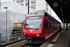 A CJ ABe 2/6 634 La Chaux-de-Fonds állomáson
