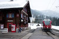 The Rhätische Bahn ABe 8/12 3501 seen at Langwies