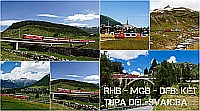 RhB-MGB-DFB: Két túra Dél-Svájcban
