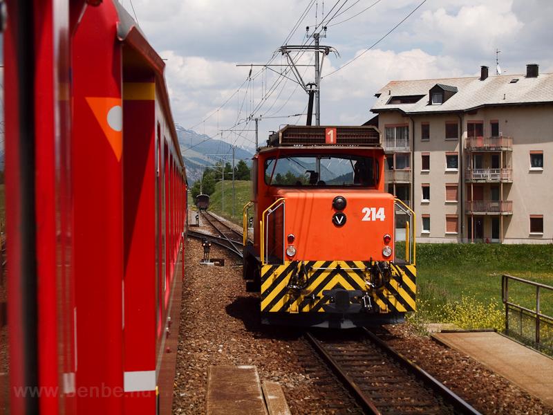 A Rhätische Bahn Ge 3/3 214 fotó