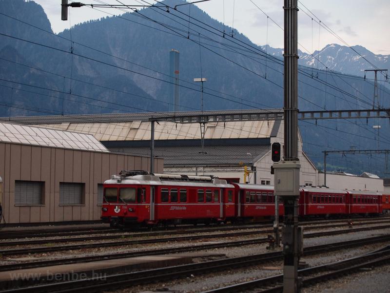 A Rhätische Bahn (RhB) Be 4/4 516 Landquart állomáson fotó