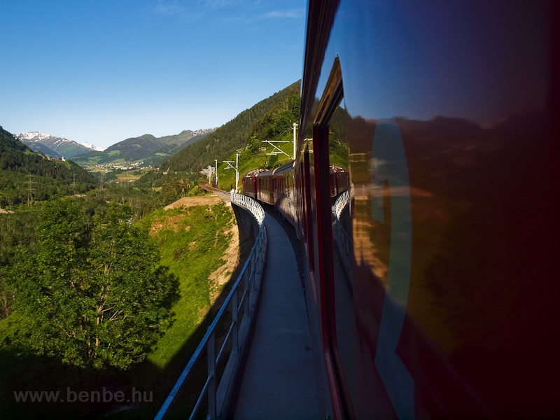 A Val Russein-Viadukt az El fotó