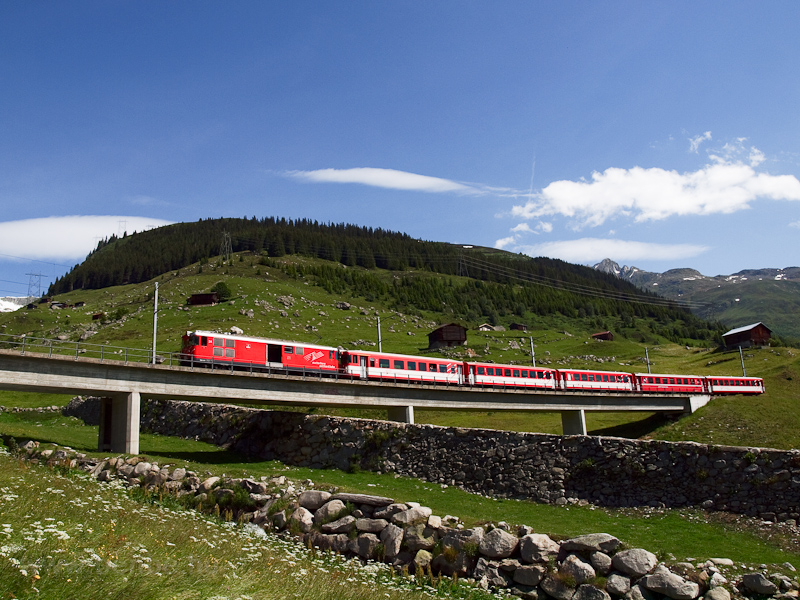 The Matterhorn-Gotthardbahn Deh 4/4 I  24 seen between Rueras and Dieni photo