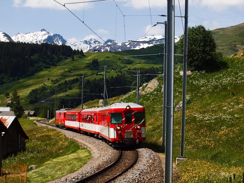 A Matterhorn-Gotthardbahn Deh 4/4 I  21 Dieni és Rueras között fotó