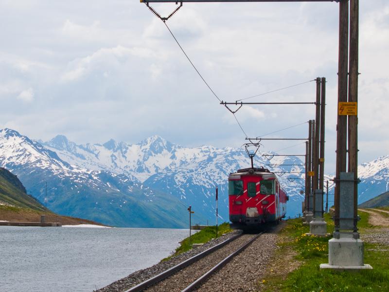 Egy ismeretlen Matterhorn-Gotthardbahn Deh 4/4 I   Oberalppasshöhe-Calmot és Nätschen között fotó