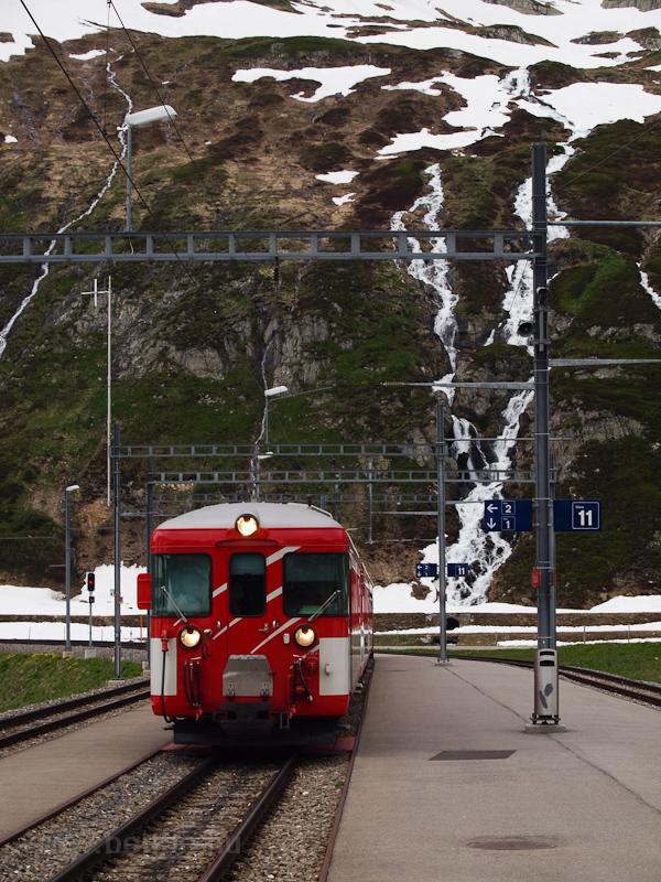 Egy ismeretlen Matterhorn-Gotthardbahn Deh 4/4 I   Oberalppasshöhe-Calmot állomáson fotó