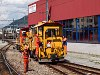 Track maintenance team at Samedan