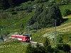 A Matterhorn-Gotthardbahn Deh 4/4 I  53 Dieni állomáson