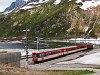 Egy ismeretlen Matterhorn-Gotthardbahn Dhe 4/4 I   Oberalppasshöhe-Calmot állomáson