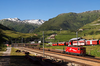 A Matterhorn-Gotthardbahn Ge 4/4 III  81 Realp állomáson