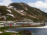 Egy ismeretlen Matterhorn-Gotthardbahn HGe 4/4 II   Oberalppasshöhe-Calmot állomáson