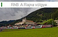 The Rhätische Bahn in the Rhine valley