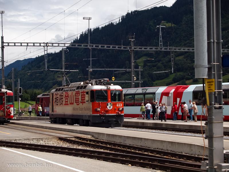 Az RhB Ge 4/4 II  622  Hakone Tozan Railway  Disentis/Mustér állomáson fotó