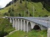 The Bugnei-viaduct on the Oberalppass line