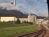 Alpine industry: the Ems Chemie next to the track of the Rh�tische Bahn